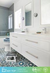 Moderne Badezimmer-Schrank-Eitelkeits-Wannen-kombiniertes Spiegel-Badezimmer-Schrank-Set