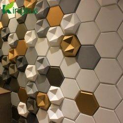 オフィスの装飾的な3Dポリエステル線維の音響の壁パネル