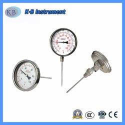 Tous en acier inoxydable Thermomètre bimétallique connexion inférieure