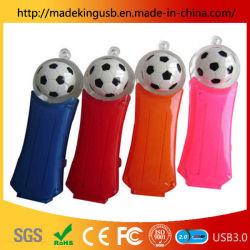 L'ABS liquide huileux de football personnalisés lecteur Flash USB en acrylique transparent en plastique avec flotteur stick USB