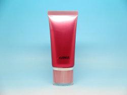 Блестящий красный пластиковый Сожмите трубку для ручного крем