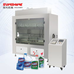 Controlados por PLC desinfectante Anti-Corrosive automática de água de branqueamento wc ácido corrosivo do Purificador de Água líquida Máquina Lableling Capping de Enchimento