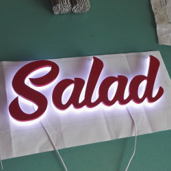 Fabricant de formage sous vide d'alimentation rétroéclairé acrylique 3D de la publicité Logo de la signalisation Lettre