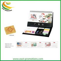 Suministros de oficina personalizado 2020 Calendario de escritorio con bastón Notas Notas