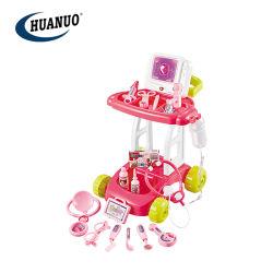 Il dottore di plastica funzionale rosso Toys Medical Andare-Carrello con acqua e la funzione