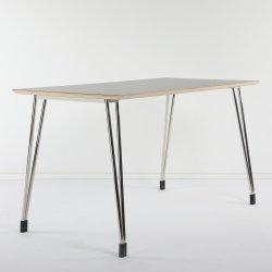 Un estilo moderno de madera de alta calidad de la mesa de comedor rectangular de acero inoxidable