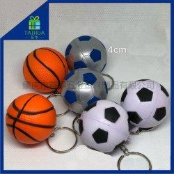 Heißer Verkauf Künstliche weiche Schaumstoffkeychain Spielzeug PU Stress Ball