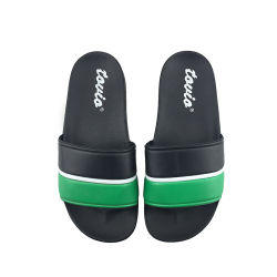 Hellosportsのカスタムロゴの人プリントPUのスリッパの履物のサイズ47、ロゴの緑はPVCスリッパの人、夏のサンダルの反スリップのホームスリッパを滑らせる