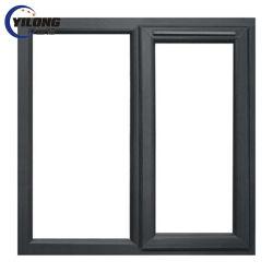 Low E verre isolant en PVC gris Brown Windows