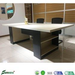 Simple et moderne en bois de mélamine Table de réunion avec le stockage