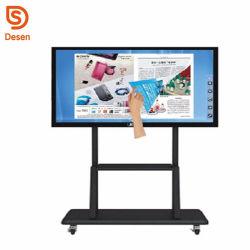 Новый высококачественный 65дюйма электронные IR Smart интерактивные доски плата 1920X1080 FHD 10 баллов коснитесь для использования в аудитории
