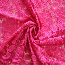 Dubai Stretch Polyester Nylon Wedding Lace Fabric voor Fashion Garment Accessoires met fabrieksprijs