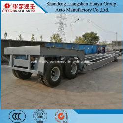 100t Low-Bed semi remolque para transporte de la máquina de petróleo