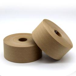 Sellado de cajas de cartón personalizadas más barata sin ruido de cintas autoadhesivas de papel Kraft