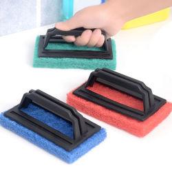 Limpeza da cozinha esponja com pega para uma cápsula Dissipador Pot Banheira Palavra Escovas de limpeza