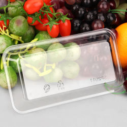 昼食およびフルーツのための明確で使い捨て可能なプラスチック包装の食糧容器のまめの皿