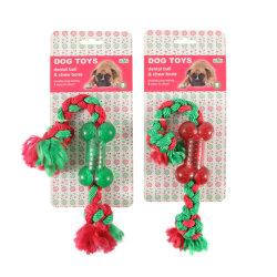 استيراد TTP Pet Dog Toys غير قابل للتدمير الكلب القوي كرة حمراء اللون عيد ميلاد المسيح كلب لعبة الحيوانات الأليفة لعبة