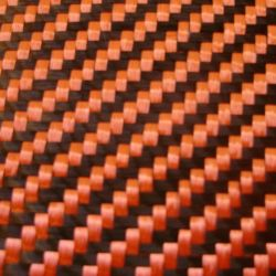 Ткань волокна углерода Wovening Twill красного цвета 3k 200g