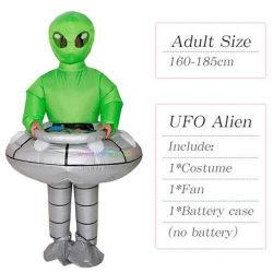 Adulto Kids UFO Alien Traje Inflável Fancy Natal Carnaval Halloween traje de festa Et Vestuário Fanny vestido de máscara