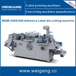 Rouleau à l'Wqm-420 / rouleau à la feuille / autocollant Die Machine de découpe avec Hot Stamping / Lamination / fonction de perforation