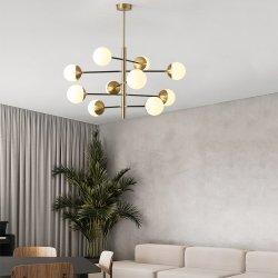 8개의 맨 위 램프 침대 룸 현대 현대 샹들리에 유리제 공 빛
