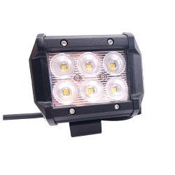 4 pulgadas de Jeep Offroad 18W de la barra de luz LED de trabajo con el Diluvio/Spot