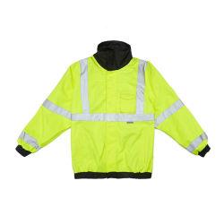 Veiligheidskleding Raincoat met reflecterende/regenjas/regenkleding/veiligheidskleding