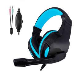 Baß-Computer-Kopfhörer mit justierbarem Mikrofon in der Bk Farbe