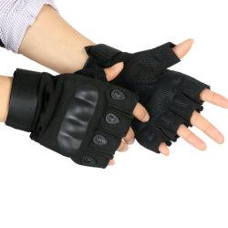 Transpirable de alta calidad de guantes de protección del ejército de los dedos la mitad de la caza de guantes de Airsoft táctico militar