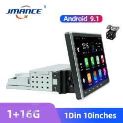"""Autoradio WiFi 1DIN auto-rádio 10"""" o Android 9.1 Carro Leitor multimédia Bluetooth GPS Mirrorlink FM gravador de fita com a câmara"""