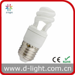 5 Вт E27 T2 Super Mini половина спиральная энергосберегающая лампа