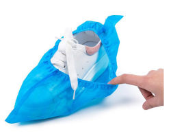 Tête jetable / caisson de protection des pieds couvrir avec une bande de preuve de patin