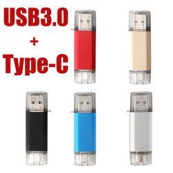 펜 드라이브 USB 플래시 드라이브 32GB 64GB 128GB OTG 유형 C USB 3.0 및 3.0 메모리 USB 플래시 스틱 16 32 64 128 256 GB 펜드라이브