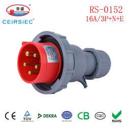 16A 방수 산업 플러그 5핀, CE 인증 포함