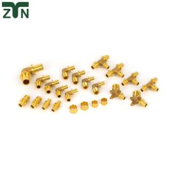 UNF/ISO/SAE Equal Tee Brass Femalel Elbow Pushfit Union Pipe Fitting
