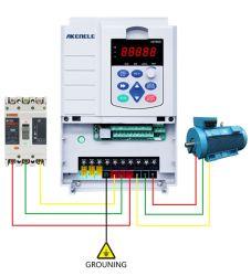 Hersteller-einphasig-Input und Dreiphasenausgabe 0.75kw Antriebsmotor-Controller-/VFD/Variable-Frequenz-Inverter zum Wechselstrom-400kw für Pumpen