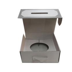 Décoration de luxe See-Through Emballage de cadeau Paper Box pour la vente