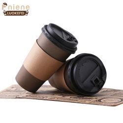 Meilleure vente logo imprimé tasse à café en papier jetables avec couvercle