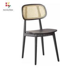 Гостеприимство мебель природных плетеной сплошной древесине обеденный стул