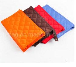 Curso de alta qualidade de impressão personalizado saco cosmético/Personalizado Bolsa Saco para roupa suja de veludo