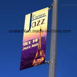 El metal de acero inoxidable poste de luz de la calle Publicidad soporte (BT02)
