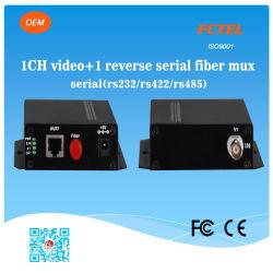1 Kanal Video und Reverse Data Fiber Transceiver