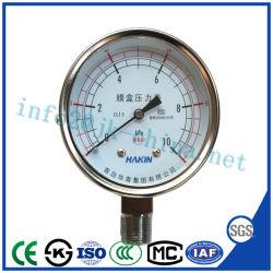 高品質およびベストセラーのダイヤフラムボックス圧力計
