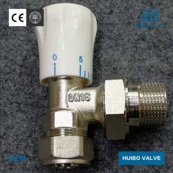 Никелированные 1/2''-1''дюйм ручной клапан радиатора с сертификат CE латуни