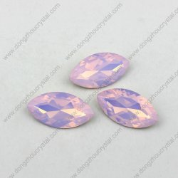Decorative를 위한 면을 낸 Navette Cut 9*18mm 로즈 Glass Crystal Stones