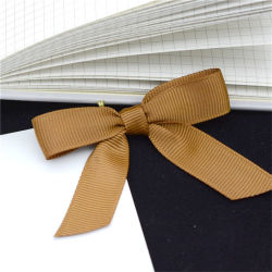 Wholesale Pull Elastic loop Gold Satin Bows for Girls