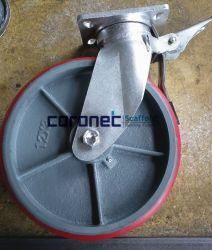 12''x3'' Cuplock самоустанавливающегося колеса для тяжелого режима работы сооружением с полиуретановыми на чугунные колеса