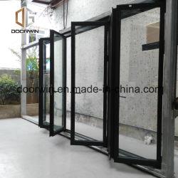 Glasschiebetüren des Grossist-Aluminiumlegierung-Baumaterial-geöffnete äußere doppelte glasig-glänzende große französische Art-Entwurfs-UPVC
