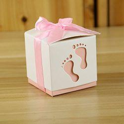 Fashion Baby Foot Candy Box douche Bébé doux sac de papier en faveur des boîtes contenant le baptême de bonbons 6*6*6cm