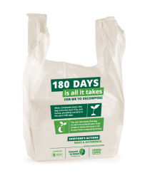 習慣100%の生物分解性のポリ袋は、Tシャツ袋、ベスト袋卸し売りする